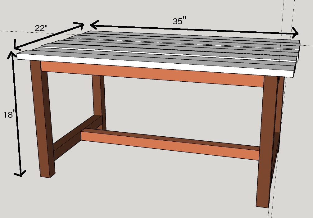 Printable plans for this outdoor table are available in my Free Plans ...