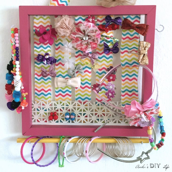 WOW! This is what I have been looking for! Now I can organize all my girls hair bows, hairbands, necklaces and bracelets! This is the best hair bow organizer ever!
