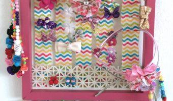 DIY Little Girls Accessory Organizer