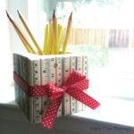 DIY Ruler Pencil Holder