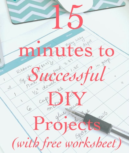 15 minutes to a successful DIY Project - Little Free Monkeys