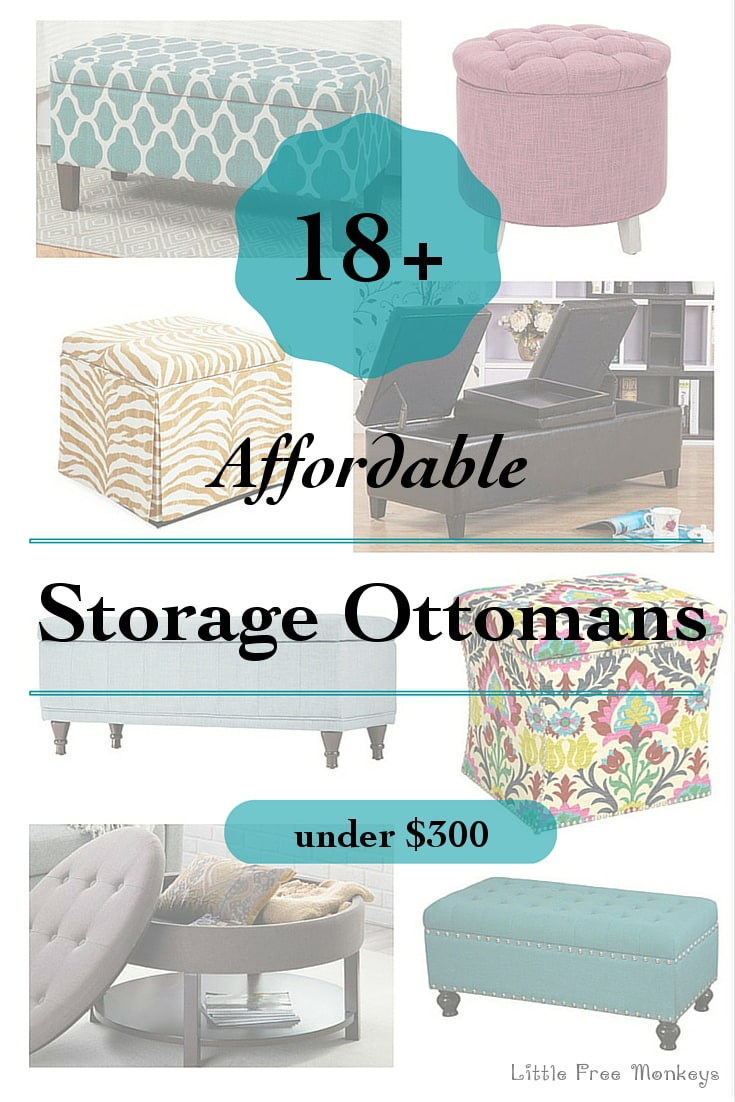 Affordable Storage Ottomans for every taste - Little Free Monkeys