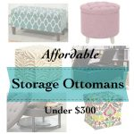 Affordable Storage Ottomans (under $300)