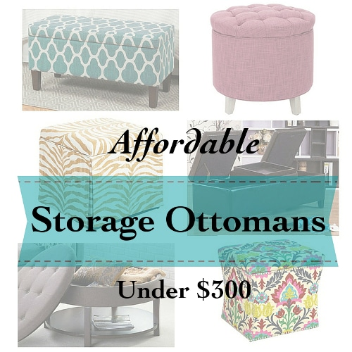 Affordable storage ottomans - Little Free Monkeys