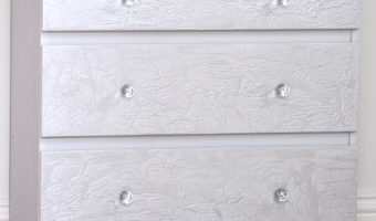 Ikea Malm dresser Hack with Crackled paint