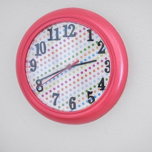 Easy Ikea Rusch Wall clock Makeover For Kids Room