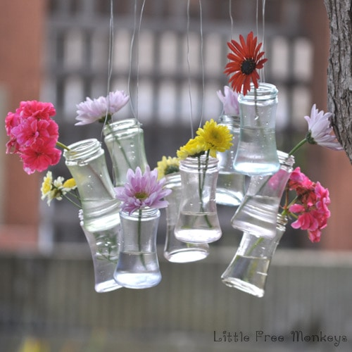 DIY Wind chime - upcycled bottle decor - Little Free Monkeys