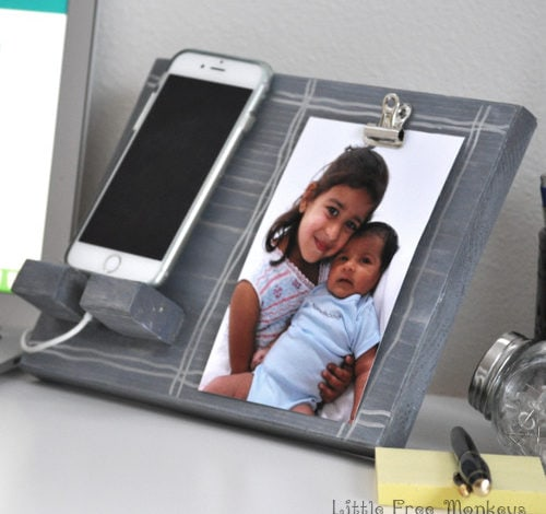 DIY Phone Holder and Photo Display