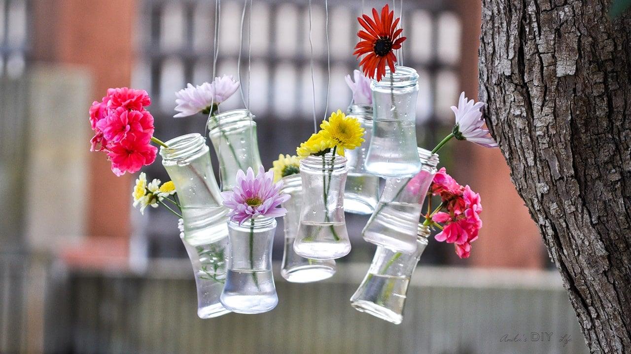 Diy Up Cycled Glass Bottle Decor Anika S Diy Life