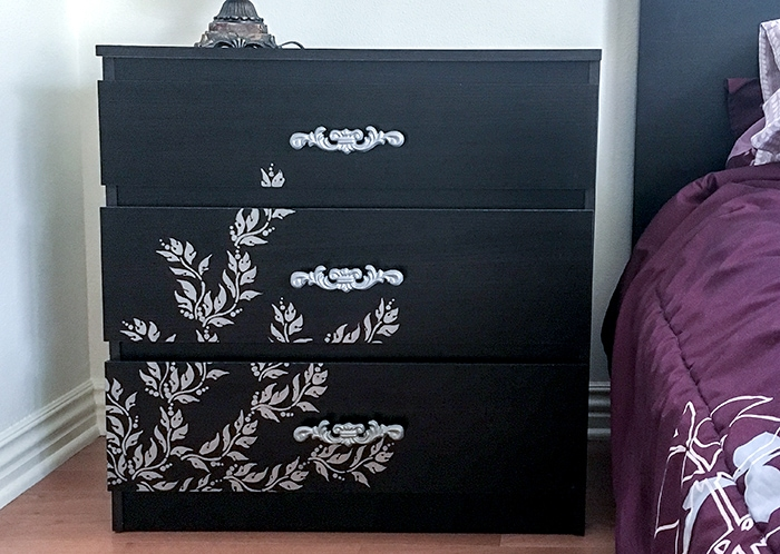 Wait to you see how she rescues this Ikea Malm dresser hack...