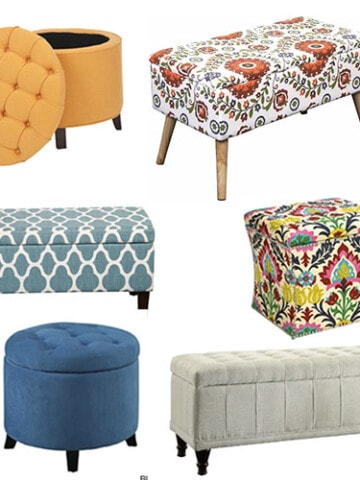 Affordable storage ottomans in all shapes and sizes to match every style. A shopping guide to help you find the perfect storage ottoman on a budget. All of these storage ottomans are priced under $300!