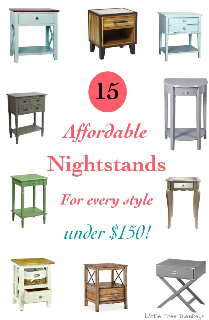 15 Affordable nightstand options to fit every style - All under $150! Some are even around $60!