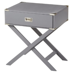 X-base end table - nightstand - Check out all the other options for affordable nightstands under $150!
