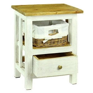 Cottage style -farmhouse style nightstand -Check out all the other options for affordable nightstands under $150!