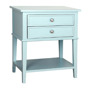 2 drawer blue side table - Check out all the other options for affordable nightstands under $150!