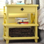 DIY Clara Lattice bedside table with Free Plans