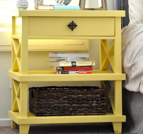 DIY Clara Lattice bedside table with Free Plans