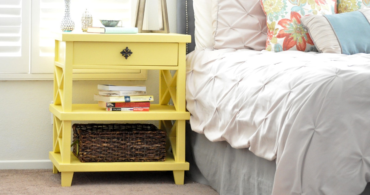 See How I Build This Pottery Barn Inspired DIY Clara Lattice Bedside Table  With The Free
