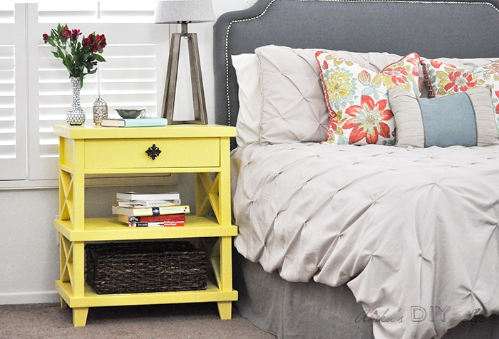 Make your own DIY nightstand - Pottery Barn inspired - free tutorial and plans