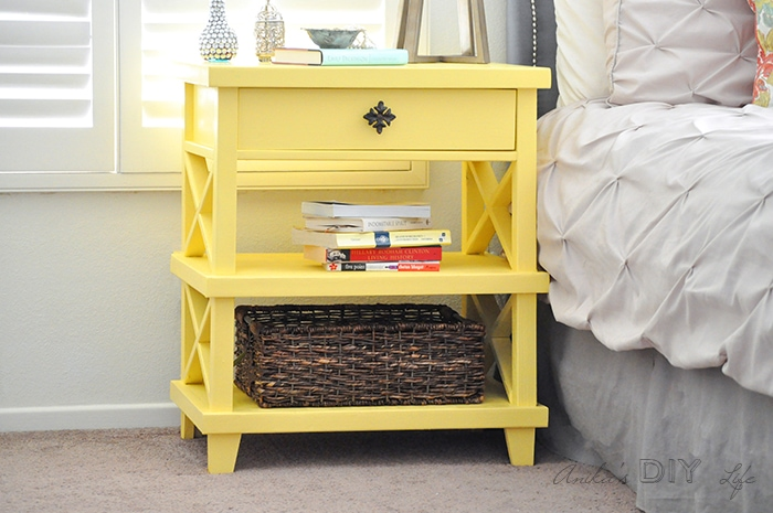 diy pottery barn inspired nightstand - free plans - anika's diy life Diy Nightstand Plans
