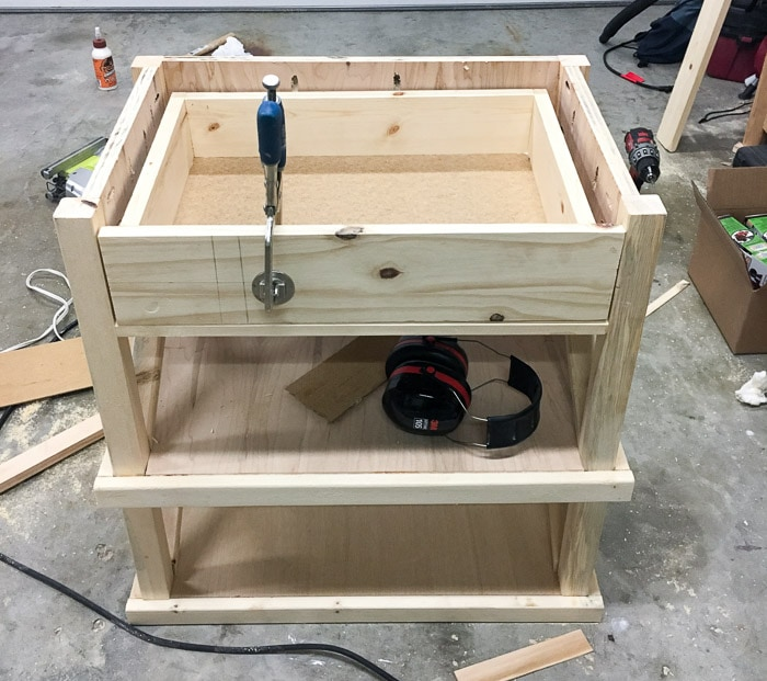 How to add a drawer to a DIY nightstand