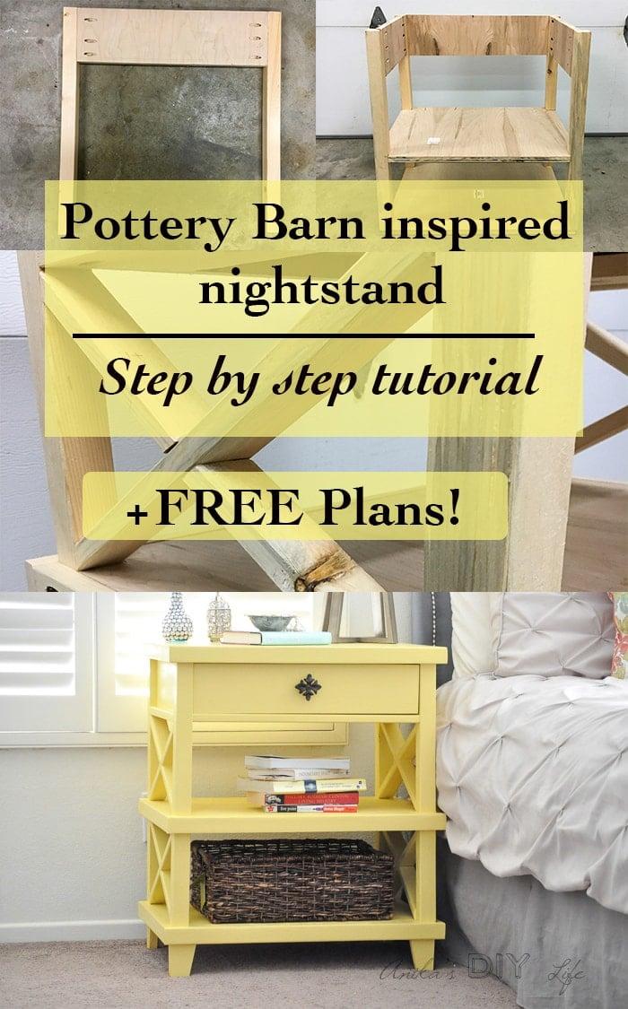 Diy Pottery Barn Inspired Nightstand Free Plans Anika S