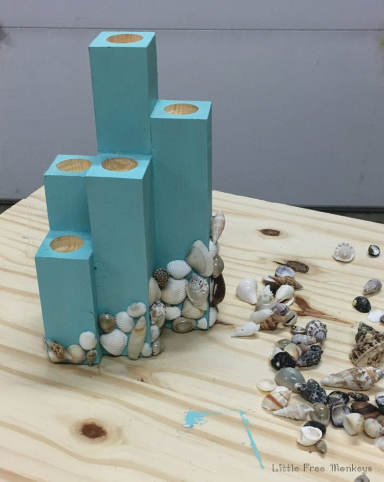 DIY Coastal Candle Holder CenterpieceAnikas DIY Life