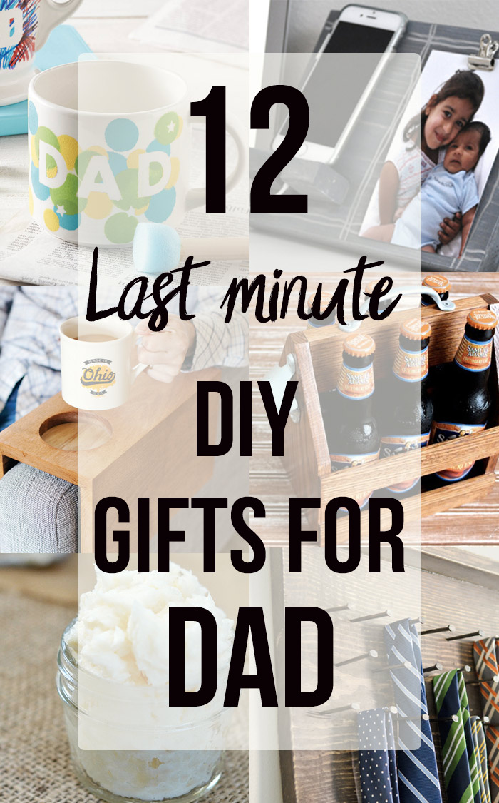 Collage of handmade gift ideas for him with text overlay