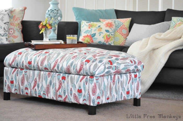 Make your own DIY upholstered storage ottoman starting with lumber from the store - it is super easy! This tutorial covers everything!