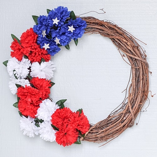 How to Make a Red White and Blue Wreath