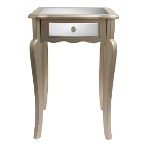 Mirrored side table - Check out all the other options for affordable nightstands under $150!