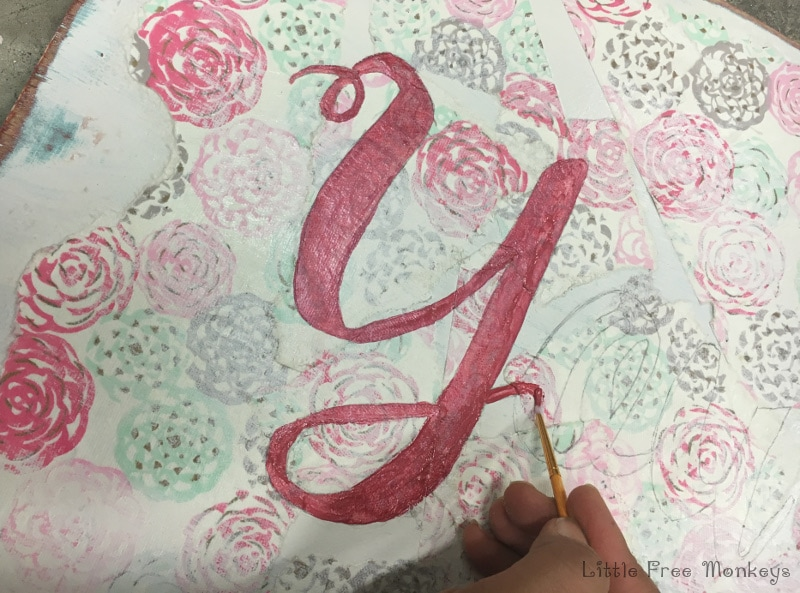 """DIY distressed paper and paint bedroom wall art - """"You and Me"""" - Full tutorial"""