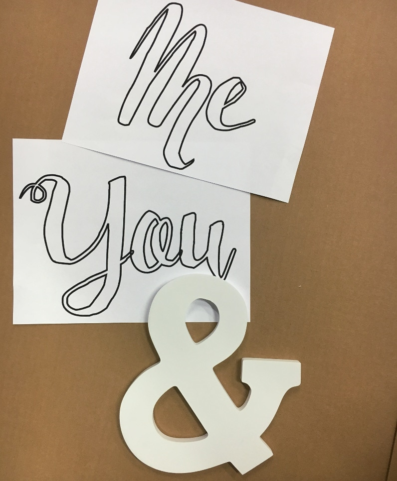 "DIY distressed paper and paint bedroom wall art - ""You and Me"" - Full tutorial"