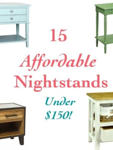 A collection of affordable nightstands under 150