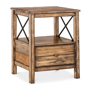 Industrial Nightstand idea - Check out all the other options for affordable nightstands under $150!