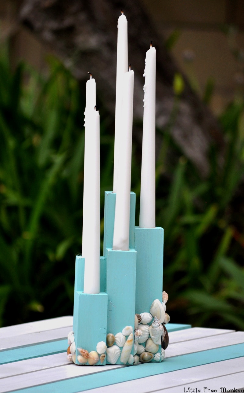 DIY Coastal Candle Holder Centerpiece // Anikas DIY Life
