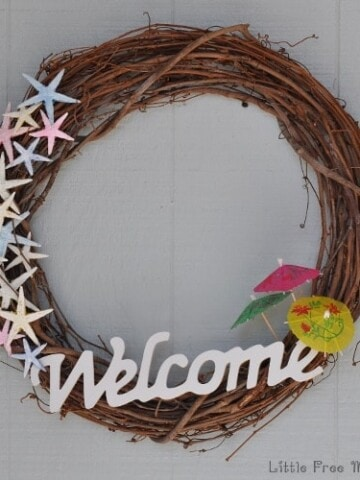 Make this easy DIY coastal wreath for under $10!