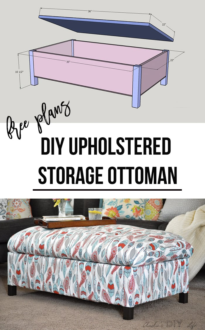 DIY Upholstered Storage Ottoman - How to Build an Ottoman ...