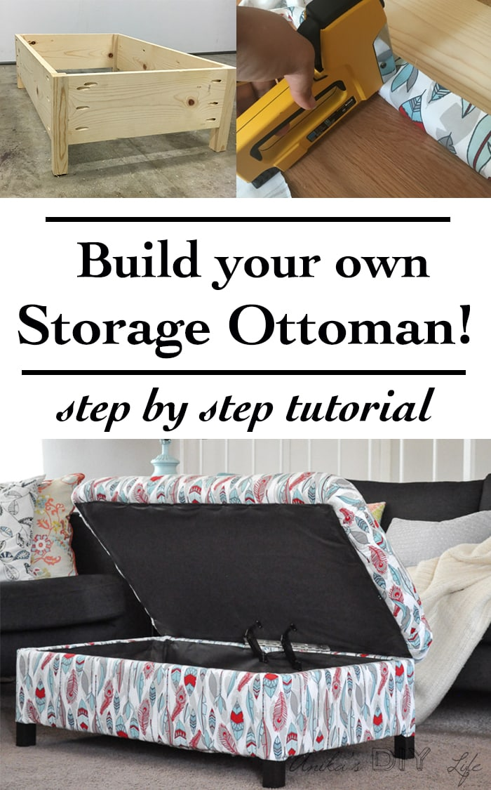 diy upholstered storage ottoman  anika's diy life - pin it button make your own diy upholstered storage ottoman starting withlumber from the store  it is