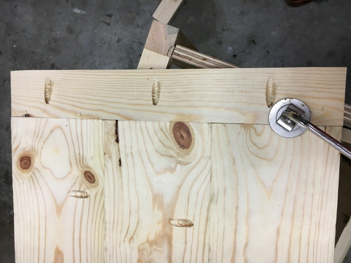 DIY Mirrored Console table- assembling the top ends