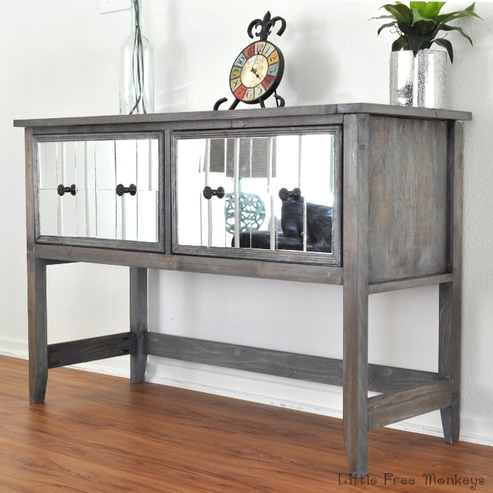 Build Your Own DIY Mirrored Console Table! Step By Step Tutorial Shows How  Easy It