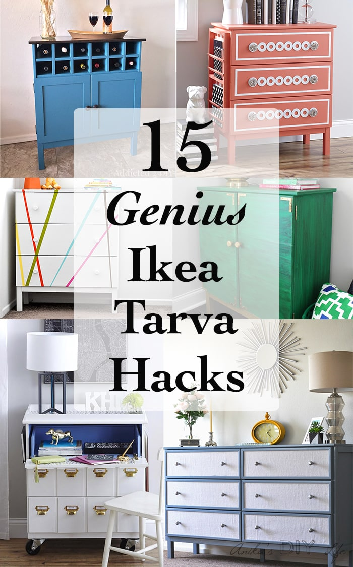 15 Amazing and genius DIY Ikea Tarva dresser hacks to inspire you