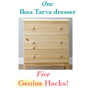 5 genius Ikea Tarva Hacks for the plain Ikea Tarva dresser