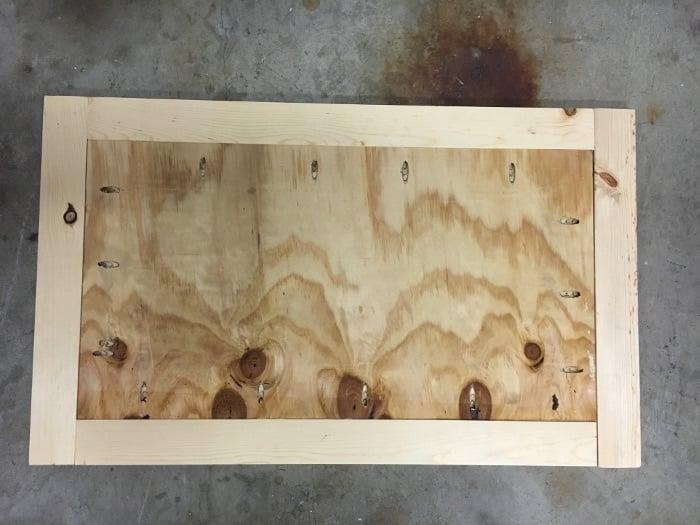 DIY Ikea Ivar cabinet hack building the top