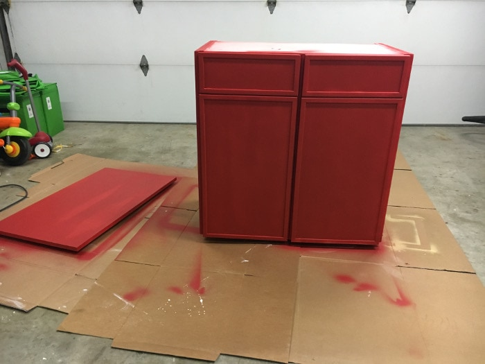 DIY Ikea Ivar cabinet gets painted