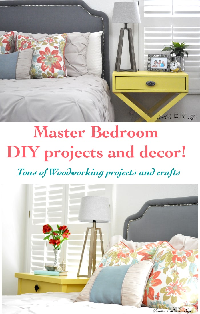 You won't believe all the DIY projects that went into making this bedroom fun and cozy!