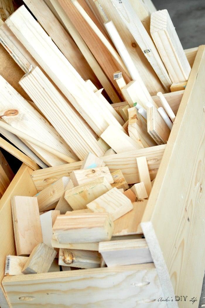 Organize all that scrap wood with this easy DIY scrap wood organizer