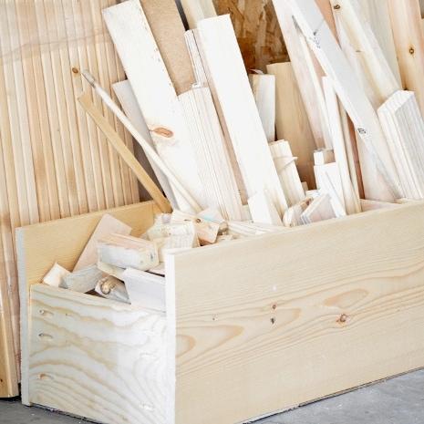 An easy DIY wood scrap organizer
