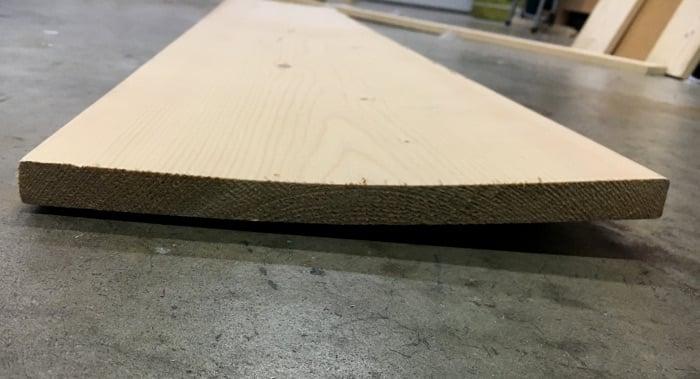 Use a warped board to create scrap wood organization!