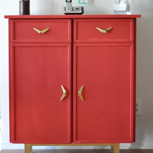 DIY Ikea Ivar cabinet makeover to a sideboard